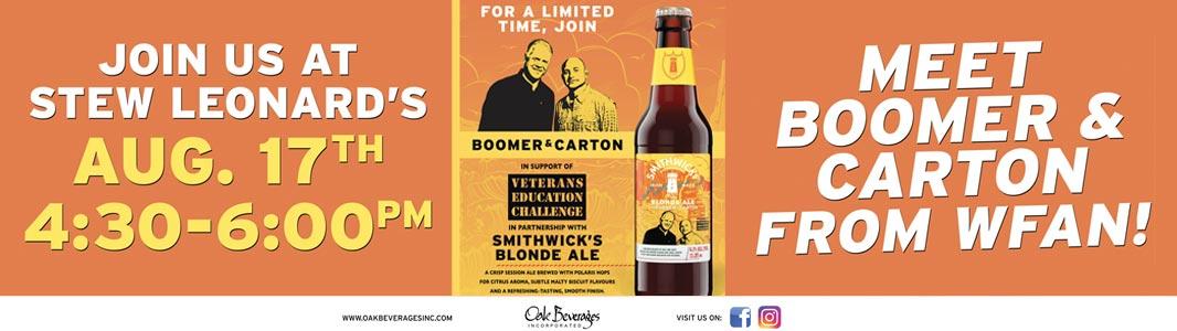 Smithwick's Boomer & Carton Blonde Ale - Stew Leonard's
