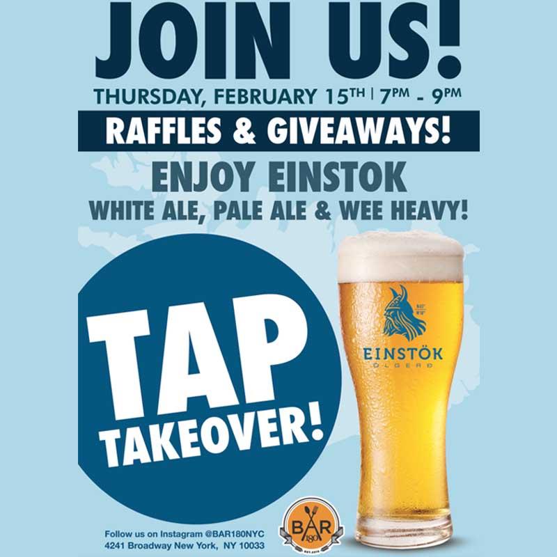 Einstok Tap Takeover Bar 180 NYC
