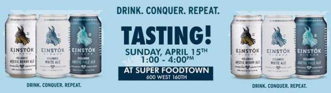 Einstok Tasting Event Foodtown Washington Heights