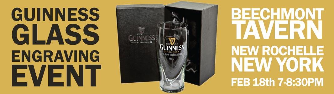 Guinness Glass Engraving Beechmont Tavern
