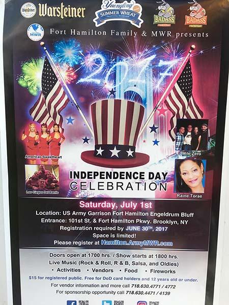 Fort Hamilton July 4th Celebration 2017