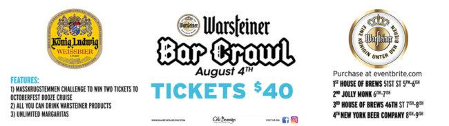 Warsteiner Bar Crawl New York Beer Company