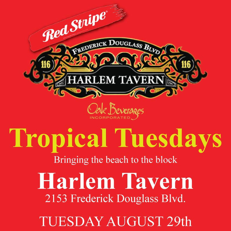 Harlem Tavern Tropical Tuesday with Red Stripe