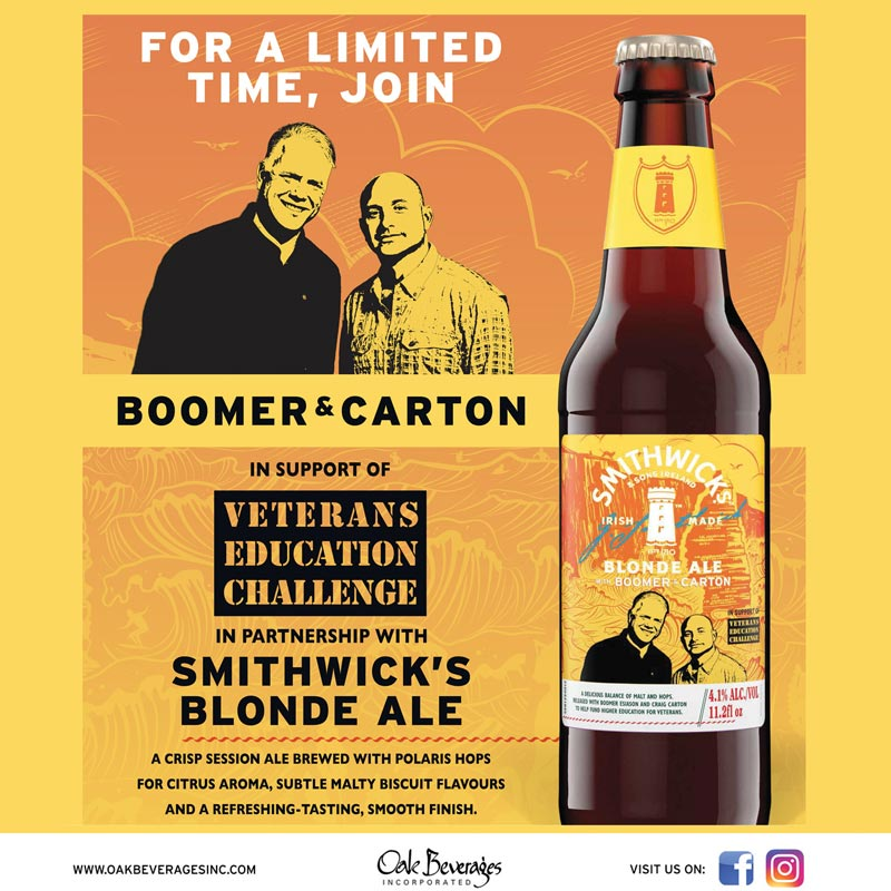 Smithwick's Boomer & Carton Blonde Ale at Stew Leonard's