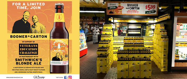 Smithwick's Boomer & Carton Blonde Ale Bottle Signing at Stew Leonard's