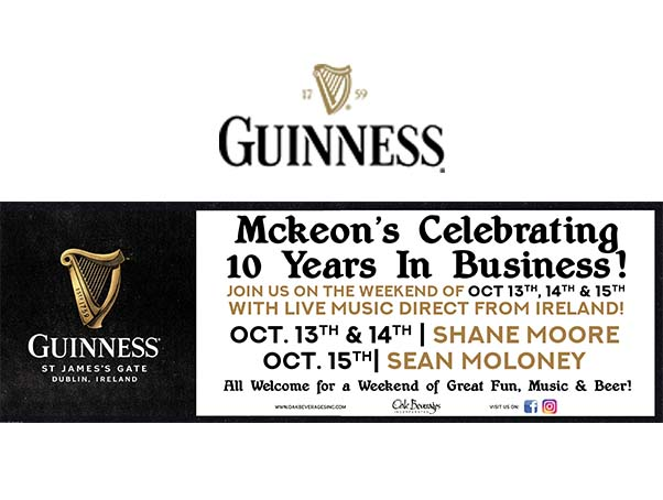 McKeon's Celebrates 10 Years in Business