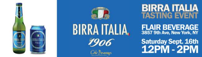 Birra Italia tasting event at Flair Beverages