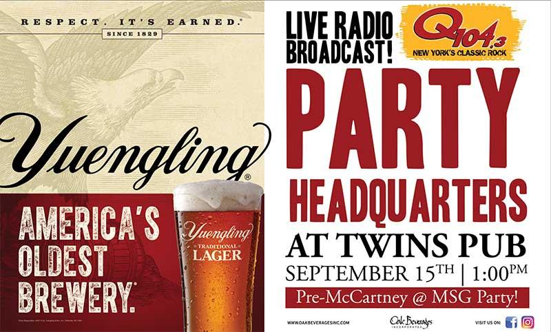 Pre McCartney Q104-3 Live Broadcast at Twins Pub