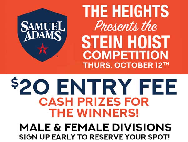 The Heights Presents Stein Hoist Competition
