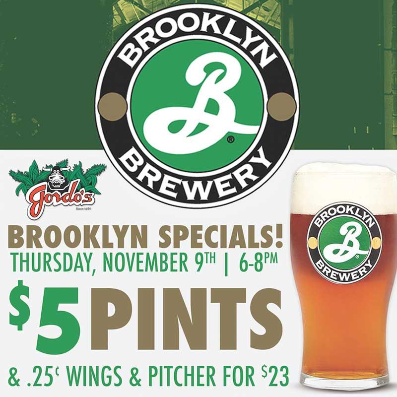 Gordo's Brooklyn Brewery Specials