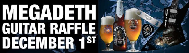Draft Barn Unibroue Megadeth Guitar Raffle