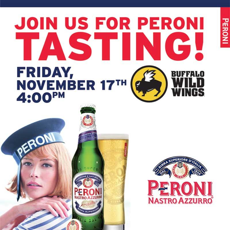 Buffalo Wild Wings Peroni Tasting West Nyack