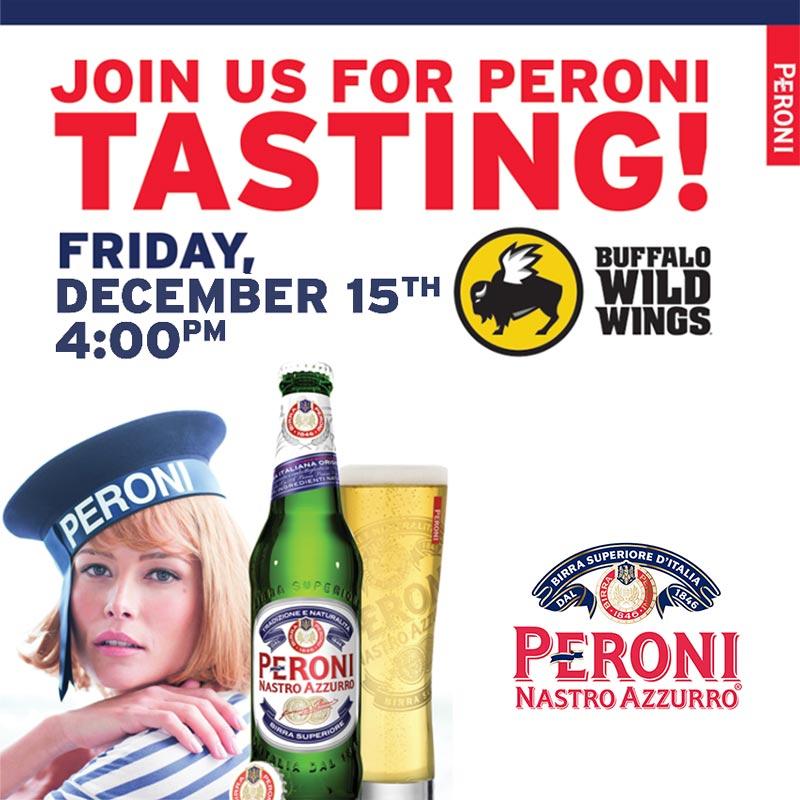 Buffalo Wild Wings Peroni Tasting Event West Nyack