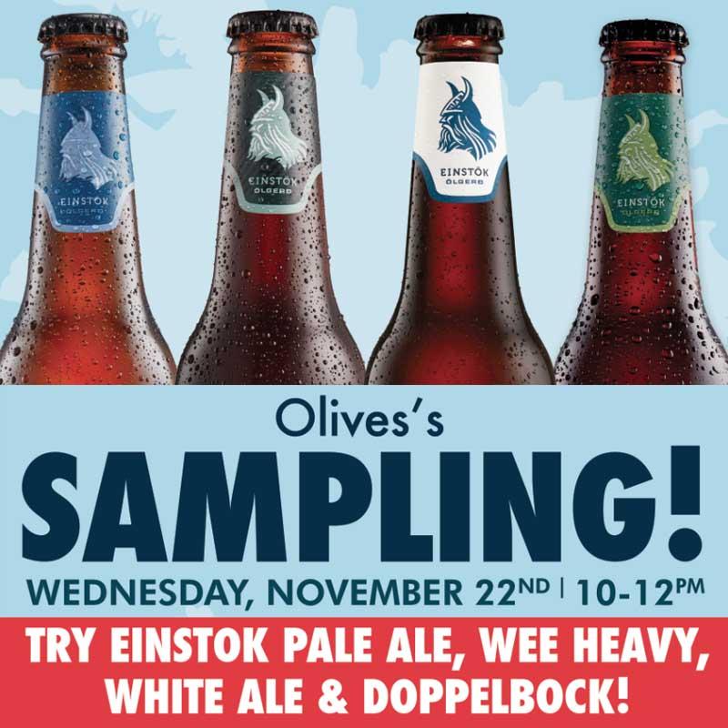 Olive's Einstok Icelandic Beer Sampling