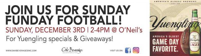 O'Neill's Yuengling Sunday Funday Football