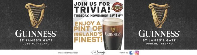 Rudy's Guinness and Trivia Night