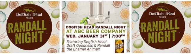 Alphabet City Beer Company Dogfish Head Randall Night