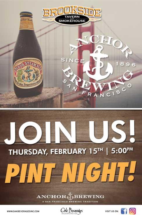 Anchor Brewing Pint Night at Brookside Tavern