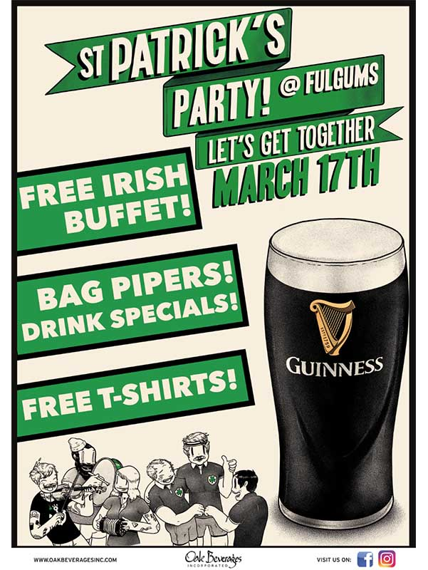 Fulgum's St. Patrick's Day Party with Guinness