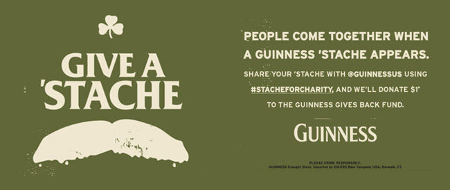 Guinness St. Patrick's Day #StacheForCharity