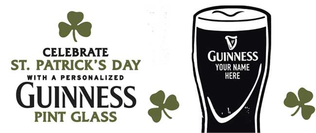 March Guinness Glass Engraving Events