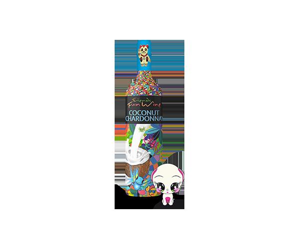 Friends Fun Wine Coconut Chardonnay bottle