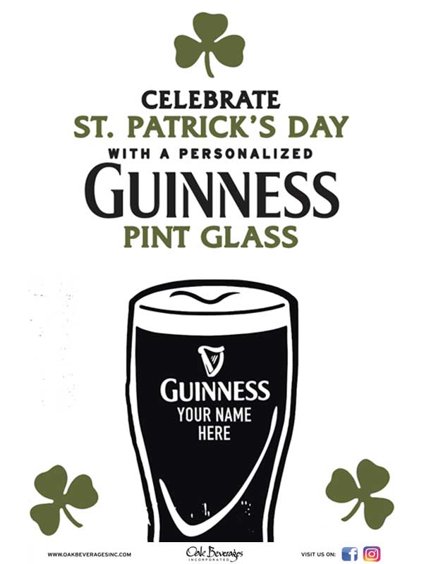 T F Noonan's Personalized Guinness Glass Event