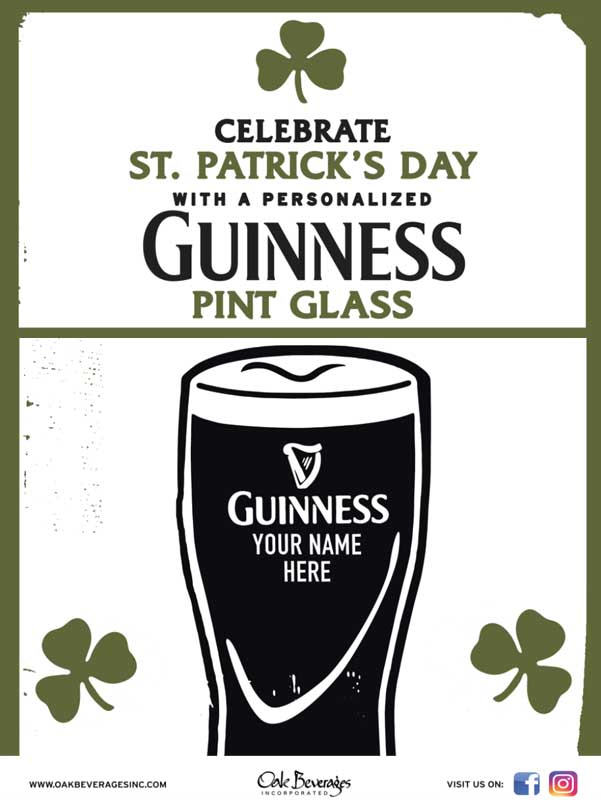 Tryon Public House Personalized Guinness Glass Event