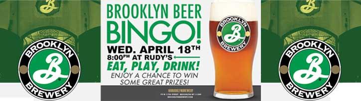 Brooklyn Beer Bingo at Rudy's Hartsdale NY