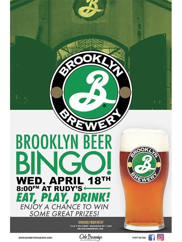 Brooklyn Beer Bingo at Rudy's Hartsdale NY