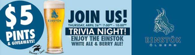Tortoise & Hare Trivia Night with Einstok