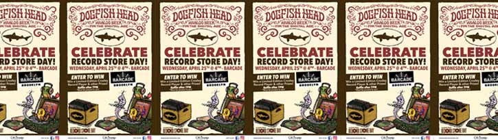 Celebrate Record Store Day at Barcade with Dogfish Head