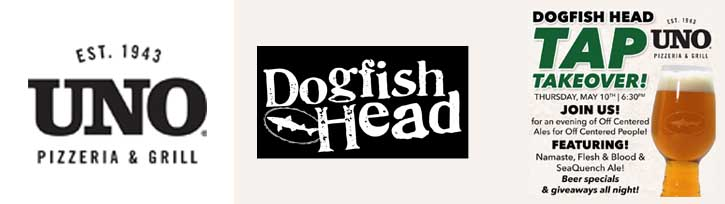 Dogfish Head Tap Takeover Uno Pizzeria Bayside NY