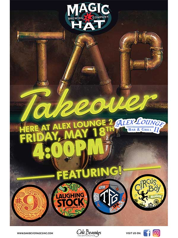 Magic Hat Tap Takeover Alex's Lounge Elmsford NY