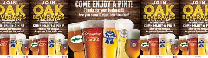 Enjoy a Pint at The Shannon Pot with Oak Beverages