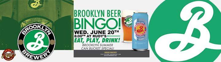 Brooklyn Beer Bingo at Rudy's Sports Bar
