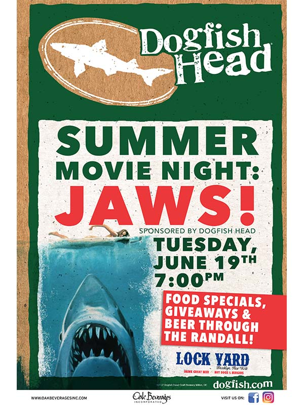 Dogfish Head Sponsors Jaws at Lock Yard