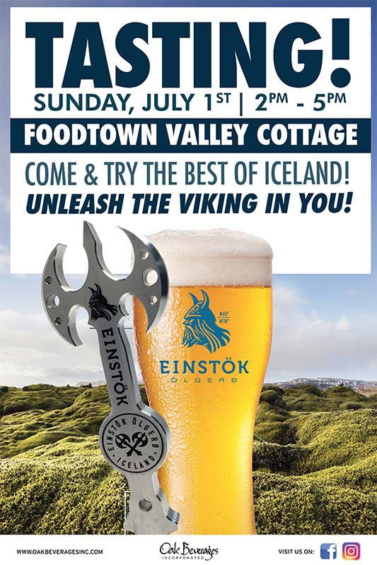 Einstok Tasting Event Foodtown Valley Cottage