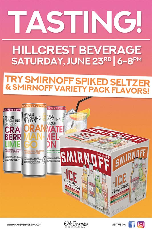 Hillcrest Beverage Smirnoff Ice Tasting Event