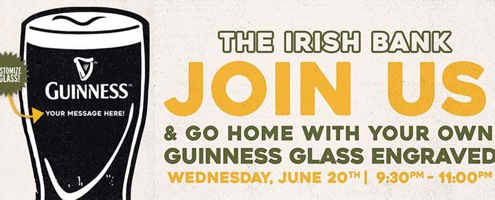 Personalized Guinness Glass Night at The Irish Bank Bar
