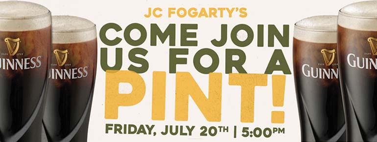 Guinness Pint Night at JC Fogarty's