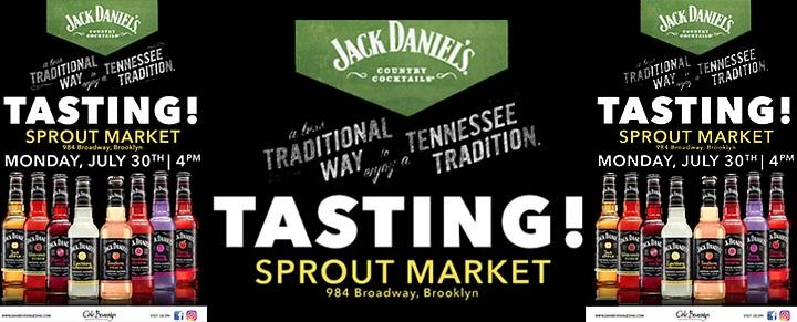 Sprout Market Host Jack Daniel's Country Cocktails Tasting