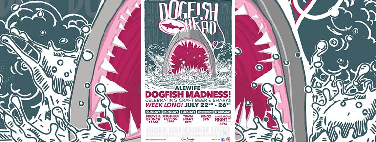 Alewife Dogfish Head Beer Madness Jaws Movie Night
