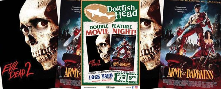 Dogfish Head Double Feature Movie Night at Lock Yard