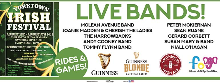 Guinness Sponsors the Yorktown Irish Festival 2018