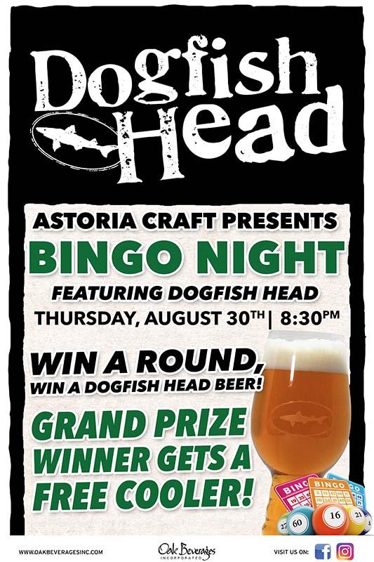 Astoria Craft Presents Dogfish Head Bingo Night
