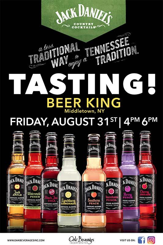 Beer King of Middletown Host Jack Daniels Tasting Event