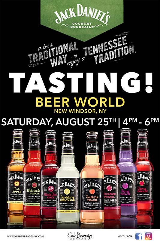 Jack Daniel's Tasting Event at Beer World