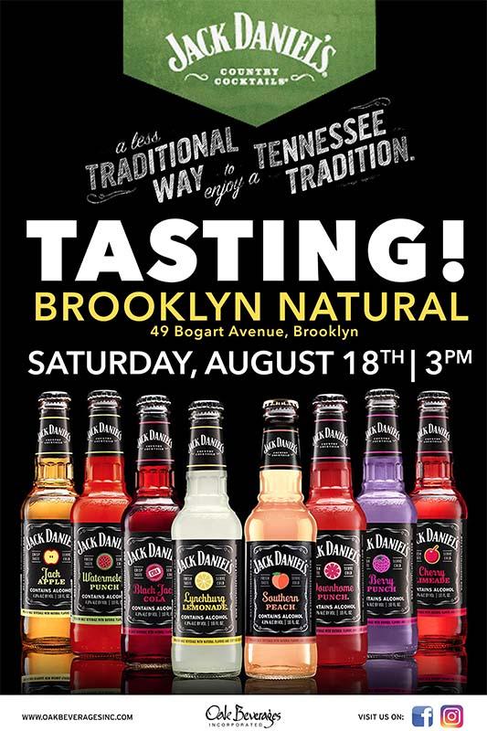 Brooklyn's Natural Jack Daniel's Tasting Event