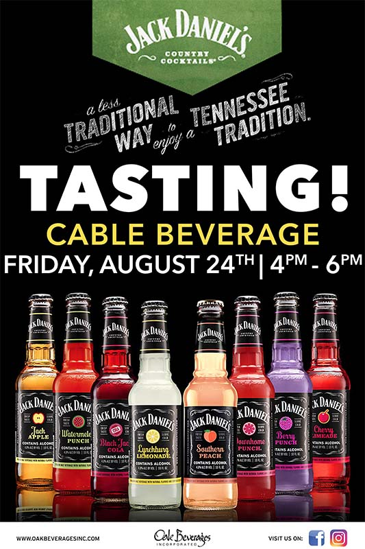 Jack Daniels Country Cocktails Tasting at Cable Beverages